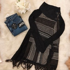 Free People Wrap Cardigan with Buckle Detail.